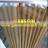 stainless steel Woven Wire Drapery for Room divider ,residential house , Metal balustrade | generalmesh