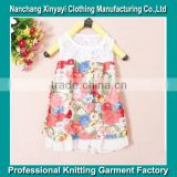 2015 summer New chiffon sleeveless vest fashion princess floral with lace dress cute girls alibaba China Supplier