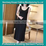 2014 Summer New Black Condole Belt Dress 100% cotton cheap young lady dresses from alibaba china