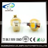 factory price hot sale auto interior led indicating lampled 12v T5 B8.5 5050 1smd car led light