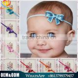 Fashion girls sequin big bow hairbands cute infant toddler girls headwear kids hair accessory wholesales mixed colors