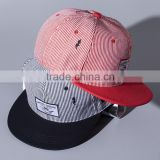Striped Pattern Applique Beard Embroidery Male Female Custom Snapback Hats Wholesale
