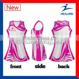 hot selling new design netball uniform promotionall jersey