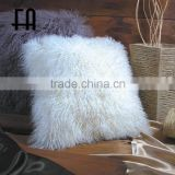 Factory direct wholesale mogolian lamb fur pillow