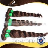 Loose Wave 8 inch virgin remy brazilian hair weft with great price