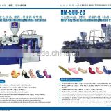 PVC jelly shoes \slippers injection moulding machine \jelly shoes machine\cross shoes \slippers machine