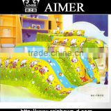 Trade assurance143 TC C % printed soft hand feeling fabric with carton designs for children bed sheet/ comforter/ fitted sheet