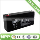 6V 3.3AH Sealed Lead Acid Battery with Quick Disconnect 6 voltage battery