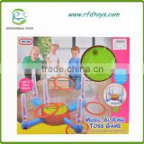 Educational ring toss game toy with light music ring toys