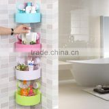 J413 plastic kitchen bathroom rack with suction cup /bathroom rack