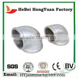 China Hot Sell Elbow Compression Sleeve Galvanized Plain Pipe Fitting