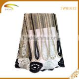 Two-tone colorful Beaded african lace fabrics,fashion tulle lace,fabric for wedding dress lace