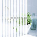 Window Colored Print Glass Tinting Film,12mm white stripe decorative film for glass door and office window