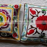 100% cotton colorful suzani hand embroidery cushion covers pillow covers