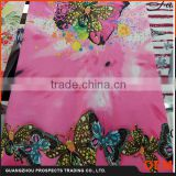 2016 Pretty Butterfly Images Custom T Shirt Sublimation 3d New Printing Softextile For Garments