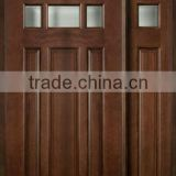 Double Glazed Wooden Main Doors Design With Side Lite DJ-S9720SO