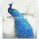 Hot Sale 5D cross stitch Diamond painting round stone peacock Chinese style diamond embroidery Home Office Decoration