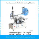 Semi automatic flat bottle/bag/pouch labeling machine flat surface printing machine for glass plastic jar box carton