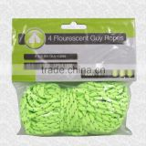 Brand New Pack of 4 x 3.8m Flourescent Glow Guy Tent Ropes with sliders *
