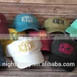 Embroidered Hat, Monogrammed Hat, Distressed Hat, Personalized cap, Custom Hat, Unstructured Hat