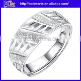 Men And Women Polished Solid Pure 999 Sterling Silver Vintage Engagement Band Rings