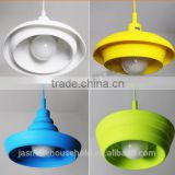New Arrival Hot Sale Home Ceiling Rose Lamp Pendant Light Bulb Holder with Silicone Lamp Shade