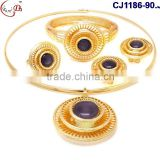 CJ1186-15 Wholesale fashion design charming 18k african gold plating jewelry set for party