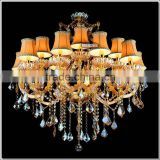 New Fashion Amber Chandelier Crystal Pendant Lighting Glass Light Fixture MD88062 L15