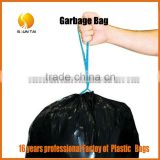 over 16 years professional factory large size PE colored drawstring trash garbage plastic bag