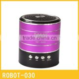 Robot-030 vibration portable card speaker,active powered Sound box,portable mini speaker with fm radio