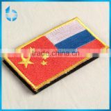 Hangzhou label company manufacture embroidery badge label for security guardsman uniform