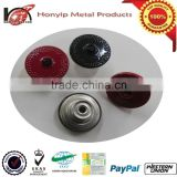 20mm Crystal Glass Stone Pattern red/black Shank Buttons