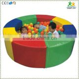 FS-SP-041D customized eco-friendly PVC & EPE & Wood kids soft round pool balls