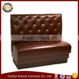 Hot Sale modern leather fast food restaurant furniture booth seating