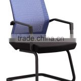 Blue mesh metal ergonomic computer chair with metal frame