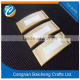 stocked metal badges of angle rectangle shapes with super magnets for attached of wholesale crafts