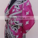 new elegant designs for printed styles for womens kaftans 100% polyester garments