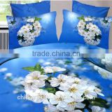 2015 3D flower duvet cover set , wholesale 3pcs,4pcs,8pcs,12pcs bedding set,100% cotton printed reactive bed linens