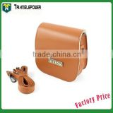 Fashionable Brown PU Leather Case Bag For Fujifilm Instax camera Mini7s, Case Bag With Shoulder strap