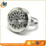 stainless steel round floating locket rings