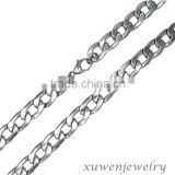 shiny polished wide cuban men's 316l stainless steel thick curb chain