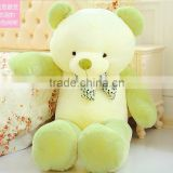 new style lovely children birthday or festival present white body green pink and brown arms teddy bear plush toy doll