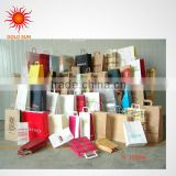 free sample high quality promotion paper gift shopping bag promotion virgin sack kraft paper