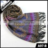 A97-B Lady Knitting Machine Fan Flower Scarf
