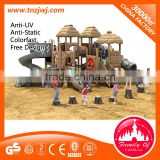 wooden playground equipment outdoor kids entertainment play equipment for sale