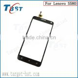 TOP Quality Front Outter Glass Lens Touch Screen Panel Digitizer For Lenovo S580 Phone Replacement Parts