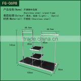 Shop Fitting Stainless Steel Garment Accessory Display Rack