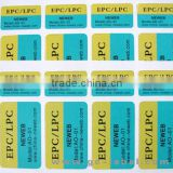 OEM brand name custom logo retail security labels self adhesive labels stickers