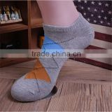 Factory Custom Made Mens Casual Argyle design short ankle socks,custom made mens ankle socks
