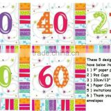 Adult Birthday Supplies/ birthday party supplies Tableware /All Ages 16 Radiant Birthday Napkins Bright Coloured 33cm x 33 cm
